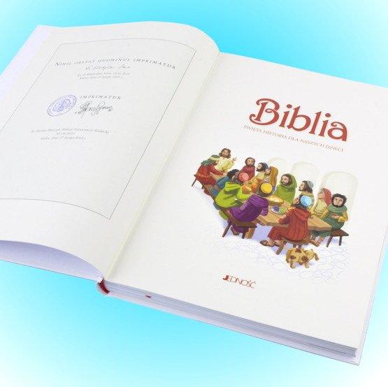 Biblia- Pamiątka I Komunii Świętej- różaniec