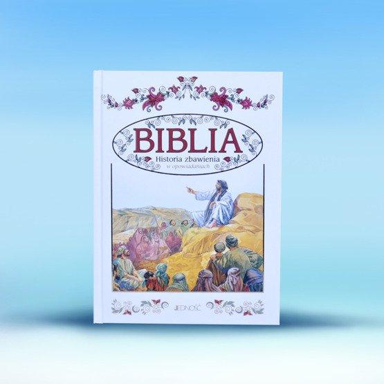 Biblia w drewnianym pudełku - gołąb na tle krzyża