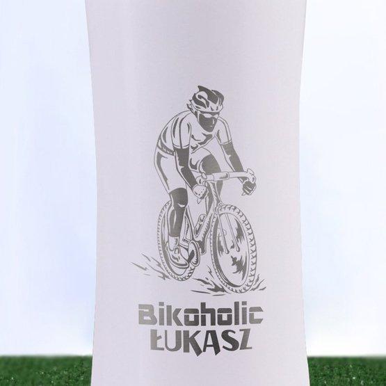 Bidon biały dla kolarza / rowerzysty