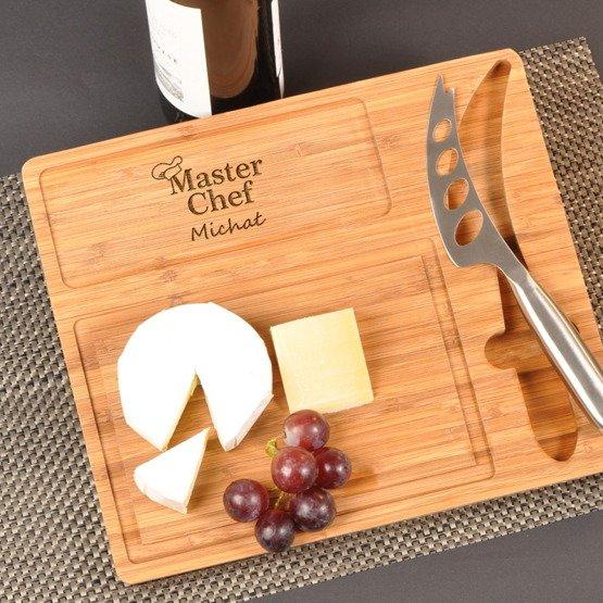 Deska kuchenna z nożem