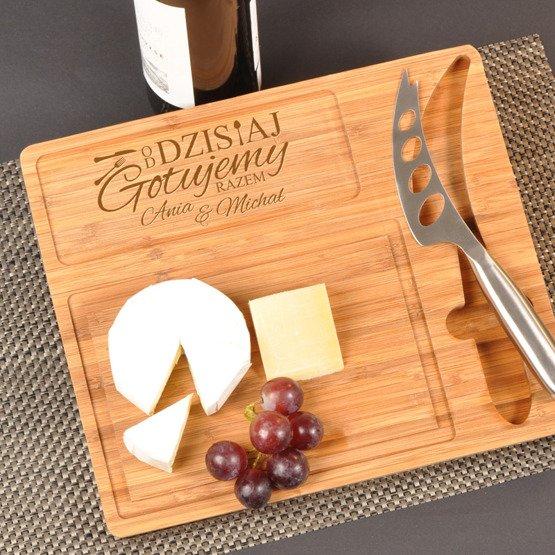 Deska kuchenna z nożem- Od dzisiaj gotujemy razem