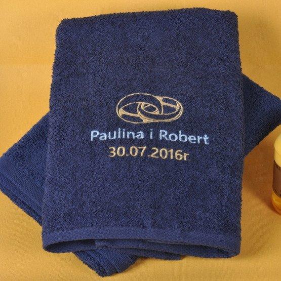 """Dwa ręczniki kąpielowe """"Obrączki"""""""