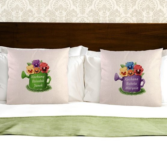 Dwie poduszki dla kochanych dziadków