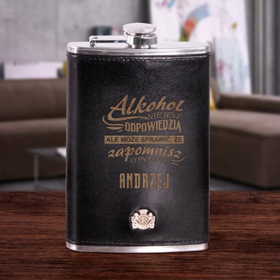Ekskluzywna piersiówka Wittchen - alkohol