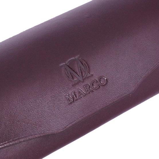 Etui na okulary Marco ciemno brązowe, z grawerem