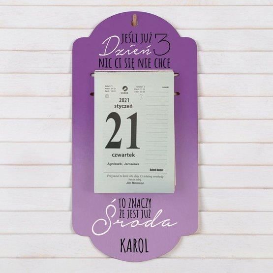 Kalendarz na deseczce z nadrukiem- 3 dzień