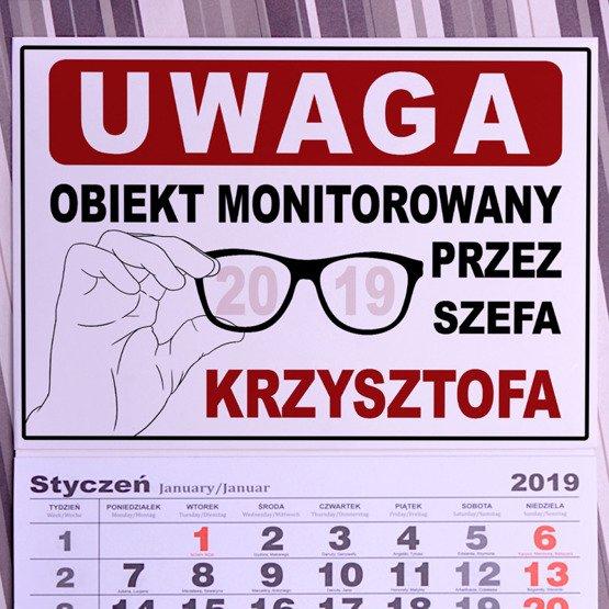 """Kalendarz ścienny z nadrukiem """"Monitoring"""""""