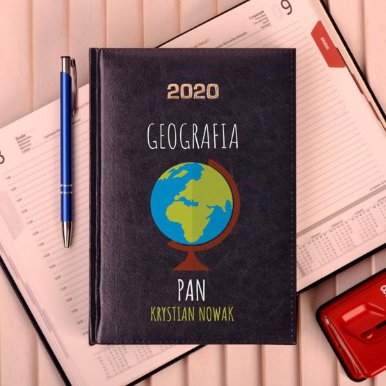 Kalendarz z nadrukiem dla nauczyciela-geografia