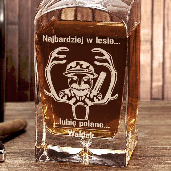Karafka do whisky dla myśliwego