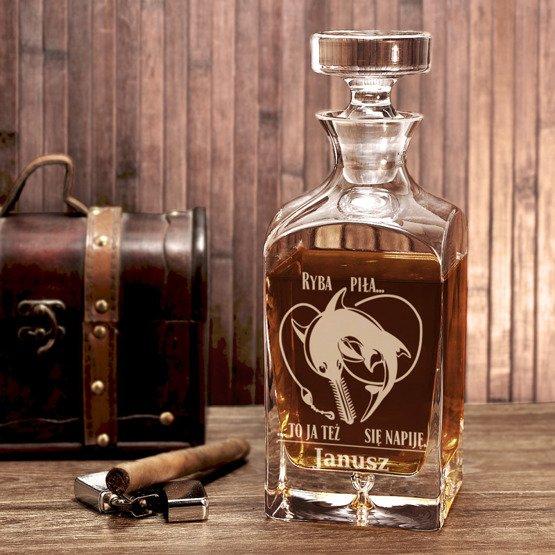 Karafka do whisky dla wędkarza