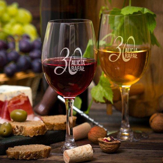 Kieliszki do wina -  rocznica ślubu
