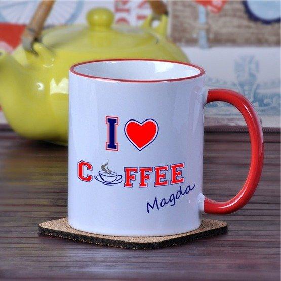 """Kubek """"I love coffee"""""""