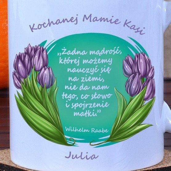 Kubek- Tulipany dla Mamy