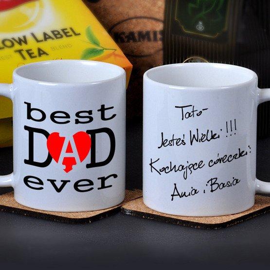 """Kubek dla Taty- """"best DAD ever"""""""