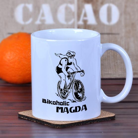 Kubek dla kolarki / rowerzystki