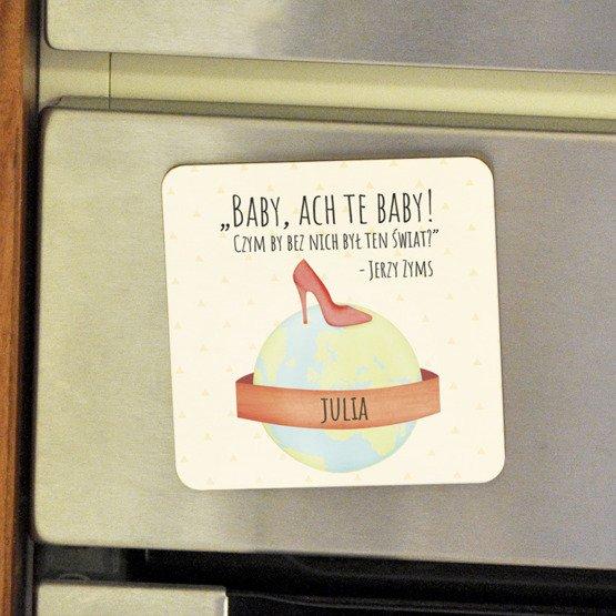 Magnes na lodówkę- Baby, Ach te Baby