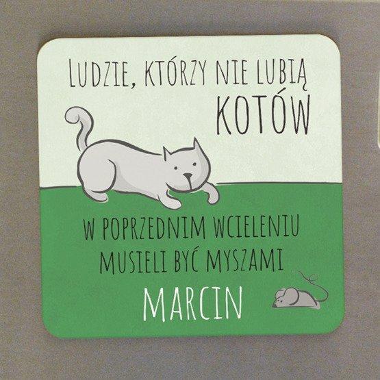 Magnes na lodówkę- Kot i mysz