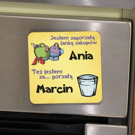 Magnes na lodówkę- dla zagorzałej pary
