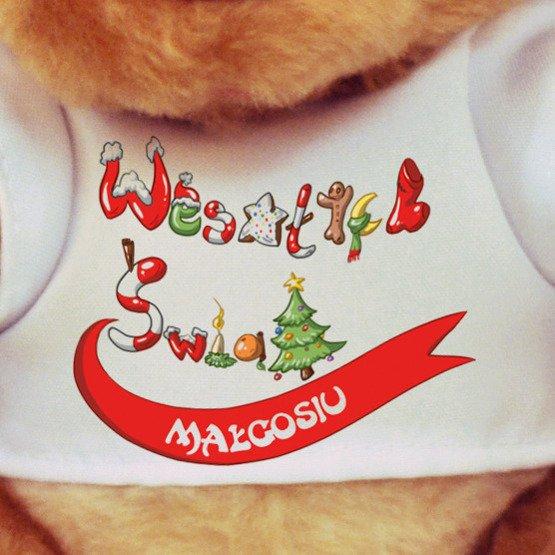 """Miś pluszowy """"Wesołych Świąt"""""""