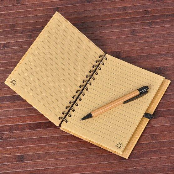 """Notes bambusowy """"WIelkie rzeczy..."""""""