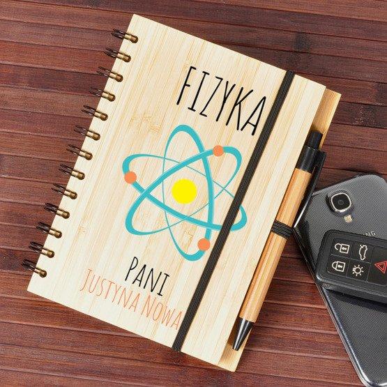 Notes bambusowy dla nauczyciela fizyki