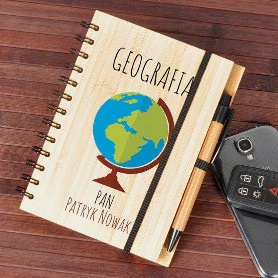 Notes bambusowy dla nauczyciela geografii