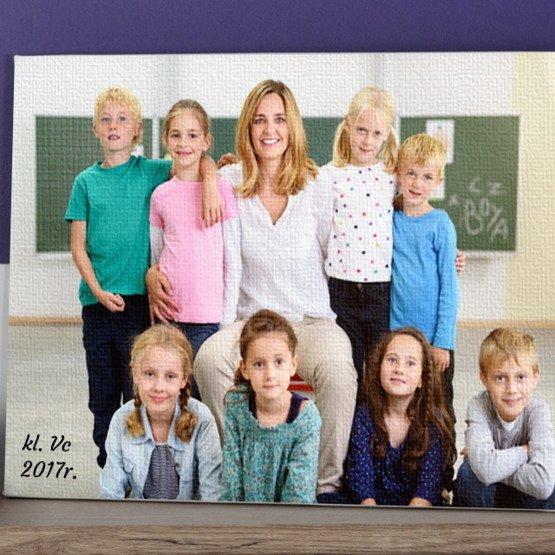 Obraz na płótnie- zdjęcie klasowe