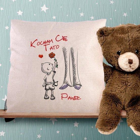 Poduszka dla taty - Kocham Cię Tato od synka lub córki