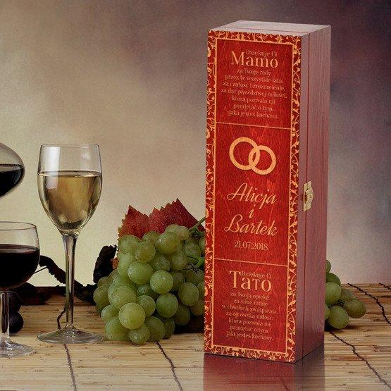 Pudełko na wino - podziękowanie dla rodziców