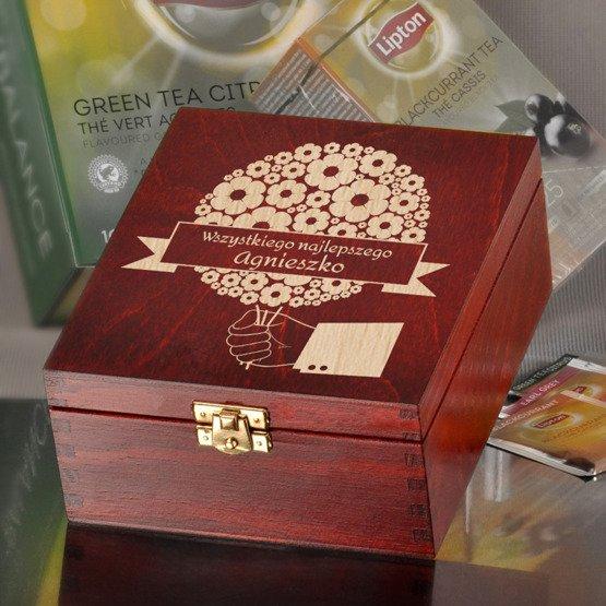 Pudełko z herbatą - Kwiecista kula