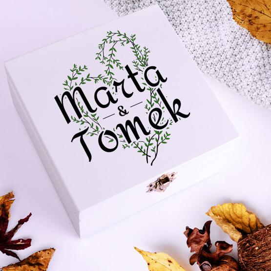 Pudełko z herbatą Lipton - serce z listków