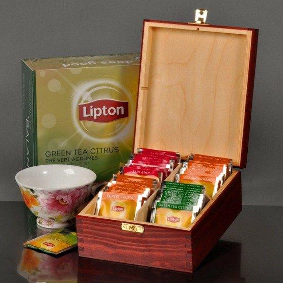 Pudełko z herbatą dla babci