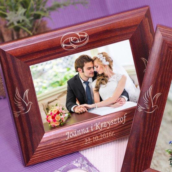 Ramka na zdjęcie ślubne
