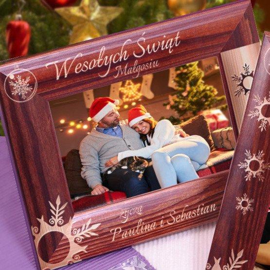 Ramka na zdjęcie świąteczne