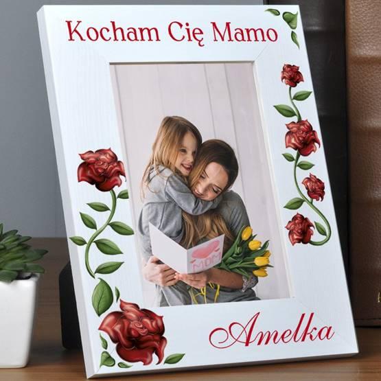 Ramka pionowa na zdjęcia Kocham Cię Mamo