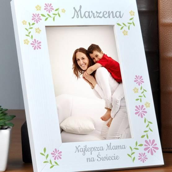 Ramka pionowa na zdjęcia Najlepsza Mama na świecie