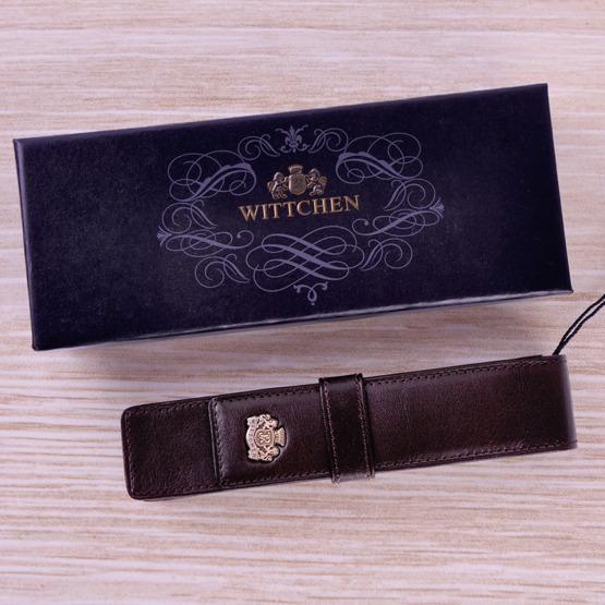 Skórzane etui na pióro Wittchen ciemny brąz