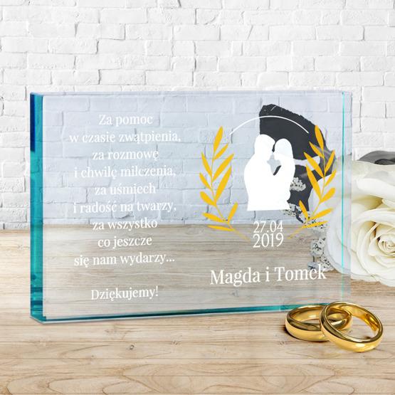 Statuetka szklana - podziękowanie dla rodziców
