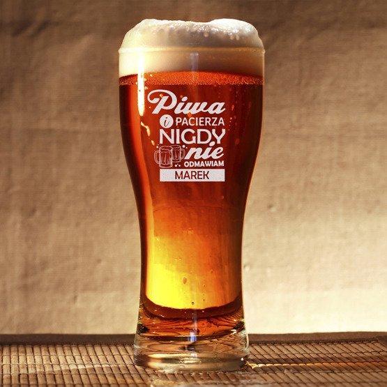 Szklanka do piwa - Nigdy nie odmawiam piwa i pacierza