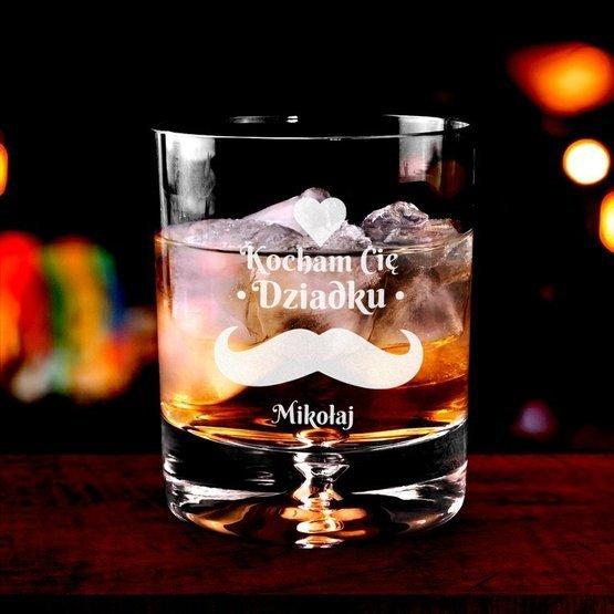 Szklanka do whisky - prezent dla dziadka : Kocham Cię Dziadku