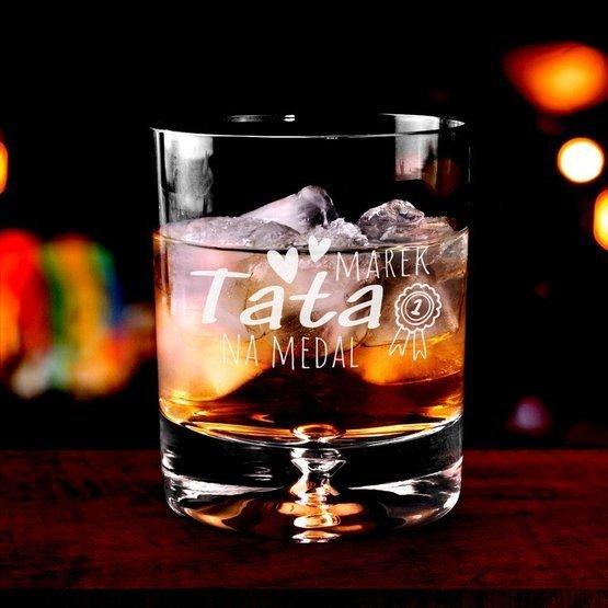 Szklanka do whisky - Tata na medal - prezent dla ojca
