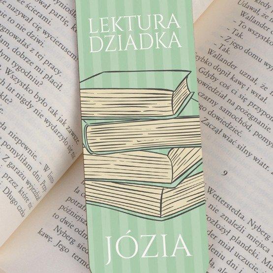 Zakładka do książki ze sznureczkiem - Lektura Dziadka