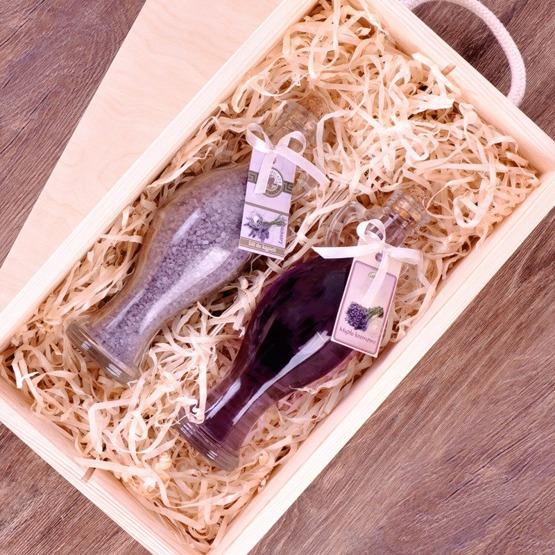 Zestaw kosmetyków w pudełku drewnianym - Podziękowania
