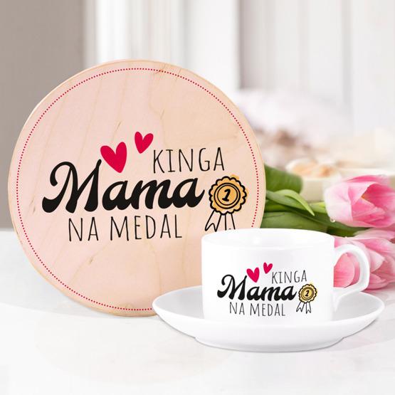 Zestaw prezentowy dla mamy - Mama na medal